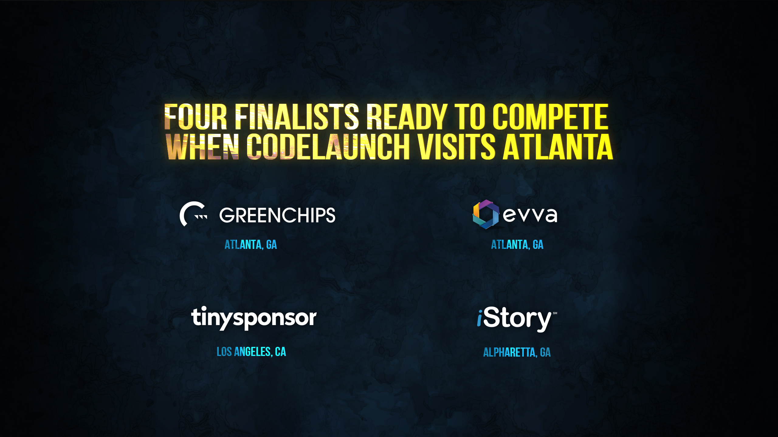 Four Finalists Ready to Compete When CodeLaunch Visits Atlanta